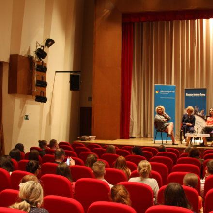 Слева направо: Регина фон Флемминг, Катрин Ойгендорф (ZDF), Евгения Сайко, Вера Сиротина / Анастасия Бушуева